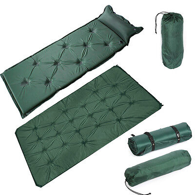 Self Inflating Camping Mat Roll Airbed Pad Inflatable Bed Sleeping Mattress Bag