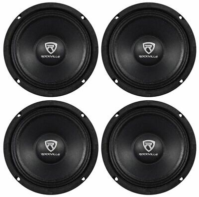 "(4) Rockville RM64PRO 6.5"" 800 Watt 4 Ohm SPL Midbass/Midrange Car Speakers"