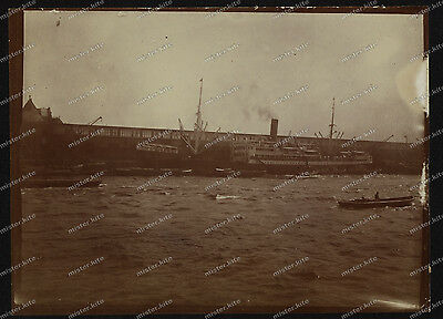 Vintage Photo-Hafen-Port-Schiffe-1911-Hamburg-2
