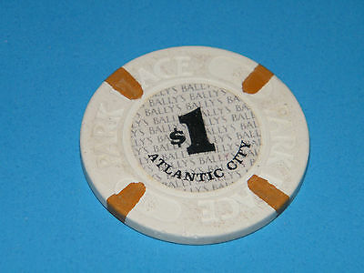 $1 BALLYS PARK PLACE HOTEL & CASINO $1.00 CHIP ATLANTIC CITY 3rd Edition! NICE!