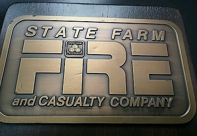 State Farm FIRE Casualty Insurance Company Plaque SIGN/MARK Bruce Fox