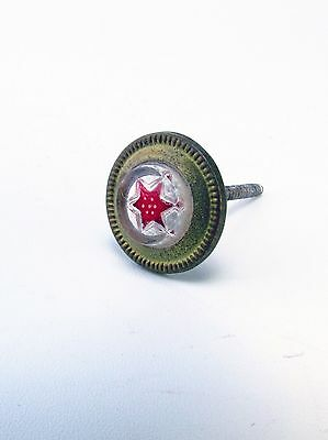 Antique Victorian Red Star Picture Nail Hanger 1800's AH07271502