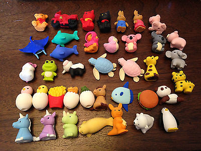 Iwako Kawai Novelty Eraser Rubber - 40+ types pick style party bag childrens