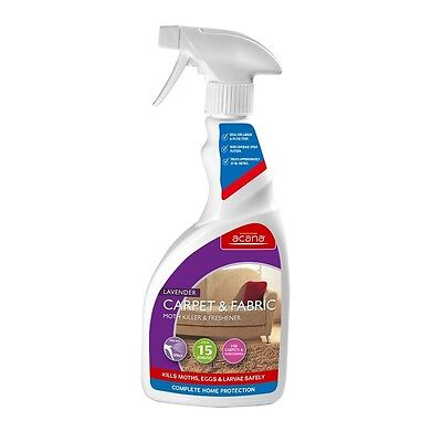 Acana Carpet and Fabric Moth Killer and Freshener Spray 500ml Lavender Fragrance