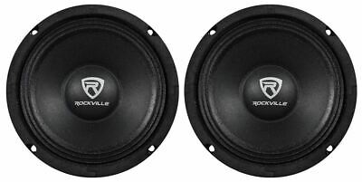 "(2) Rockville RM64PRO 6.5"" 400 Watt 4 Ohm SPL Mid-Bass Midrange Car Speakers"
