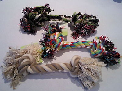 """12 x 10"""" ROPE DOG BONE TOYS    Bulk Sale    (Various colours to choose from)"""