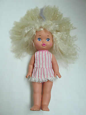 """1988 Lil Miss Dress Up Doll by Mattel 13"""" with heart on cheek"""