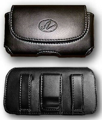 Leather Case Pouch Holster Clip for Straight Talk/Net10 LG Optimus Q LGL55C L55c