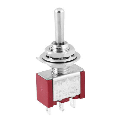 3 Way SPDT ON-OFF-ON 3 Terminals Toggle Switch 5A/120VAC 2A/250VAC