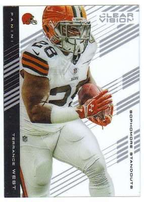 2015 Panini Clear Vision Sophomore Standouts #63 Terrance West Browns