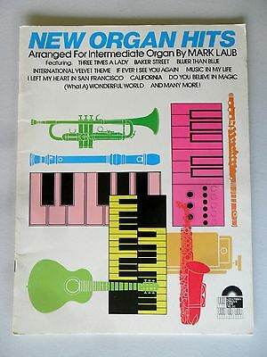 New Organ Hits Arranged For Intermediate Organ Mark Laub SC 1978