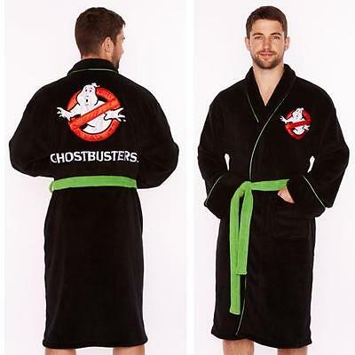 Ghostbusters - Movie Logo Soft Fleece Bathrobe / Dressing Gown - New & Official