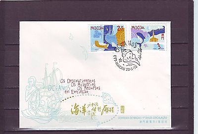 Macao/macau - Sg1048-1049 Inter Year Of The Ocean 22/5/98 First Day Cover - Fdc