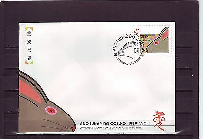 Macao/macau - Sg1081 Year Of The Rabbit 8/2/99 First Day Cover - Fdc