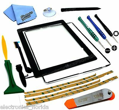 Touch Screen Glass Digitizer replacement for iPad 4 A1458 A1459 A1460 Black