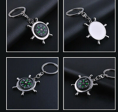new Portable Camping Sport Hike Mini Metal Precise Keychain Outdoor Compass Ring
