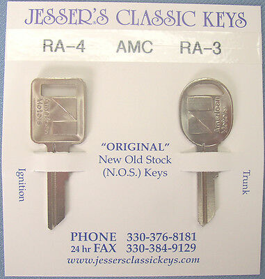 Rare Original AMC Keys 1974 1975 1976 1977 NOS New Old Stock American Motors