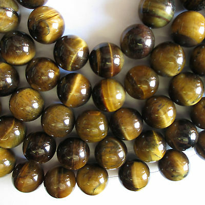 10 TIGER EYE ROUND GEMSTONE BEADS - 20mm For Craft Jewellery Making