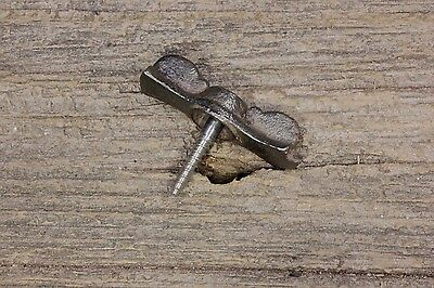 Jelly cupboard cabinet bow tie turn button latch old vintage screw clean 1 3/4""