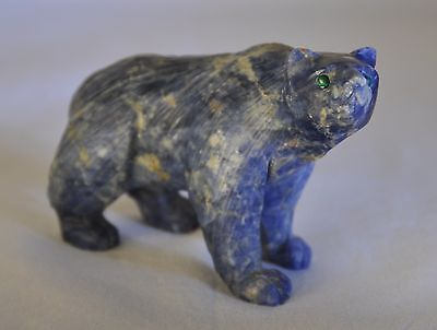 Hand-carved Gemstone Bear Totem - One of a Kind