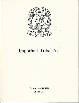 CHRISTIE'S IMPORTANT TRIBAL ART AFRICAN OCEANIC AMERICAN INDIAN ESKIMO Catalog79