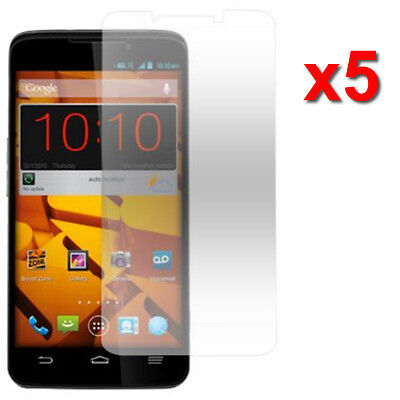 5X Crystal Clear LCD Screen Protector For ZTE Boost Max Max+ N9520 Accessory