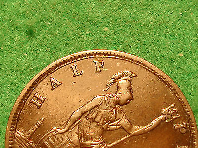 victoria 1861 halfpenny reads halp - F over P not in freeman about EF  FREEPOST