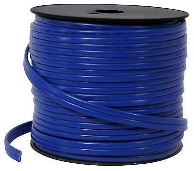 New Rockville R14G125MS-BL Blue 125 Foot Spool Marine/Boat 14 AWG Speaker Wire