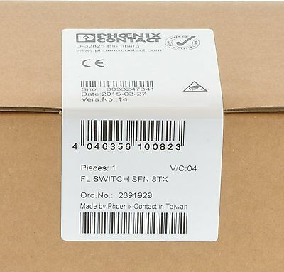 Phoenix Contact FL SWITCH SFN 8TX Industrial Ethernet Switch  2891929