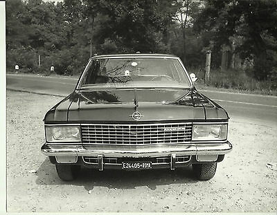 Opel Admiral 2.8 S 1967 Italian Original Large Photograph Front View 27 x 21cm