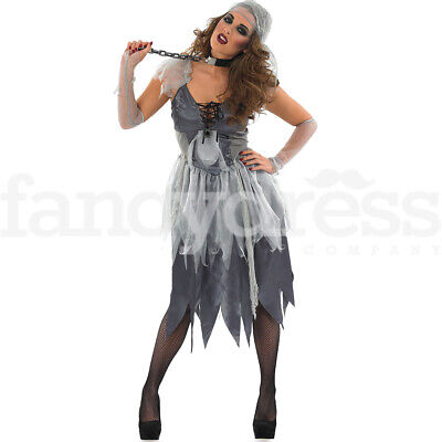 Adult Zombie Pirate Costume Ladies Halloween Ghost Fancy Dress Woman Outfit NEW