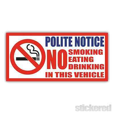2 X TAXI Window Stickers-No Smoking,Eating,Drinking,CCTV Fitted