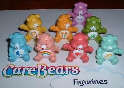 Care Bears Figure Set Toy of 8 with Sunshine Bear and many More!