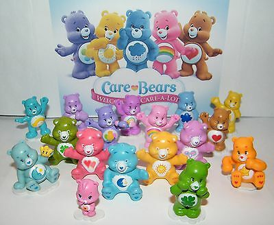 Care Bear Figure Set of 17 Different Care Bears -Wonderheart Bear and More!
