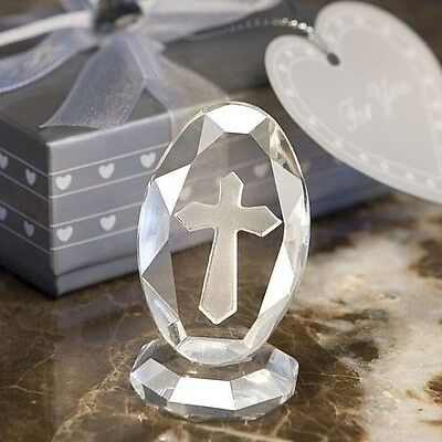 40 Elegant Religious Cross Crystal Keepsakes Christening Baptism Gift Favors