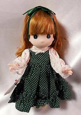 """Precious Moments Doll Irish Shannon Children of the World Green with Red Hair 9"""""""