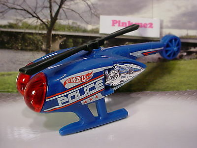 2015 POLICE PURSUIT Design Ex KILLER COPTER☆Blue/Red Helicopter☆LOOSE☆Hot Wheels