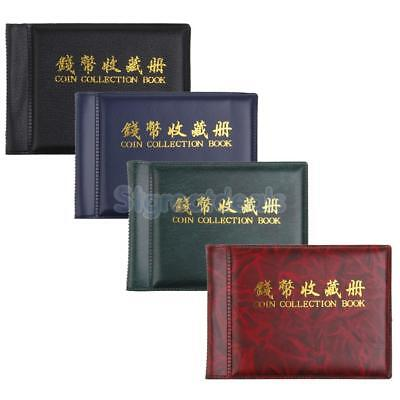Album Pocket Wallet Currency Penny Money Coins Collection 60 Holders 10 Pages
