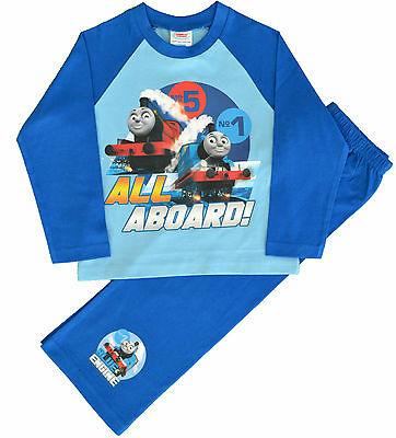 TT37 Boys Thomas Tank Engine Train Pyjamas Sizes 12 Months to 5 Years