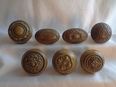 Antique  Victorian  Brass Ornate Eastlake Koor Knob