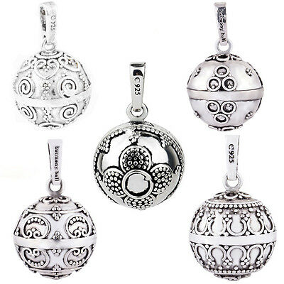 Silver Chime Sounds Angel Caller Bell Mexican Bolas Harmony Ball Pendant 20mm