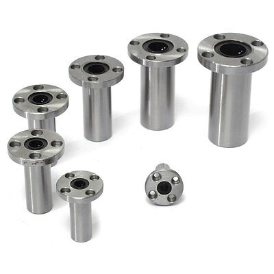 LMF6/8/10/12/13/16/20LUU Long Round Flang Linear Bearing Router Shaft Bearings