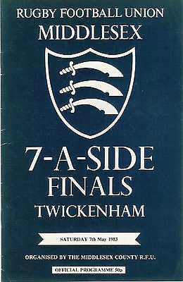 Middlesex Sevens 1983 Rugby Programme Richmond, Waterloo & Melrose
