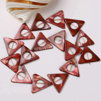 Red Donut Triangle MOP Shell Loose Beads 25mm 1Strand