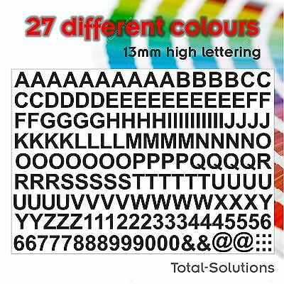 13mm Sticky Self Adhesive Vinyl Letters and Numbers - Just Peel & Stick