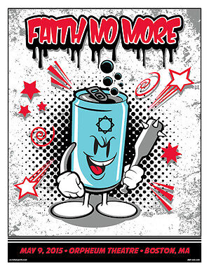 FAITH NO MORE poster Boston 2015 by Sket One