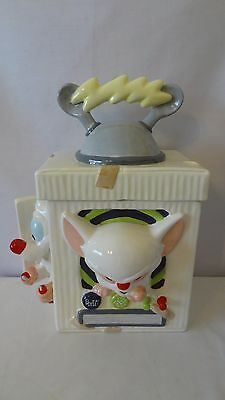 Animaniacs Warner Brothers 1996 Pinky and the Brain Cookie Jar #H276.