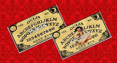 Ouija Board Game Gypsy Psychic Paranormal Crystal Ball Vinyl Checkbook Cover