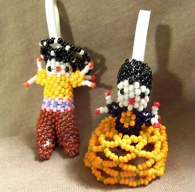 Zuni Small Beaded Guacho and Maiden by Dora Witka - Direct from Zuni
