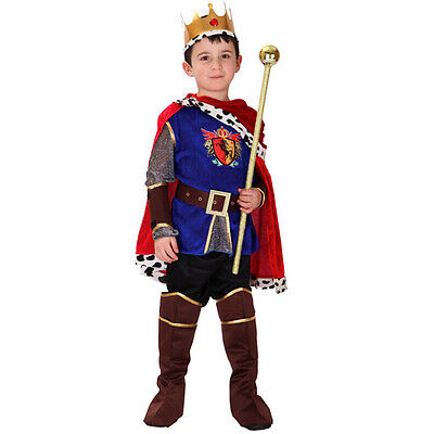Boy Halloween Knight Fancy Costumes King Prince Charming Clothes Party Outfits
